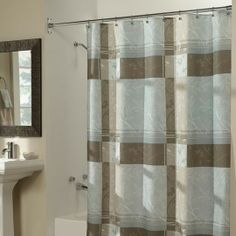 Retreat Plaid Shower Curtain $30.00