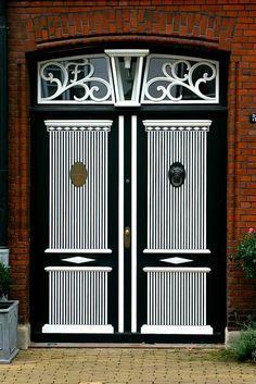 Door in Friedrichstadt, North Friesland