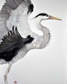 Watercolor by Karl Martens. #watercolor #watercolour #art #painting #bird…