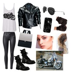 """I'm taking my bike for a ride today..."" by chanchalbijarnia ❤ liked on Polyvore featuring Leka and Ray-Ban"