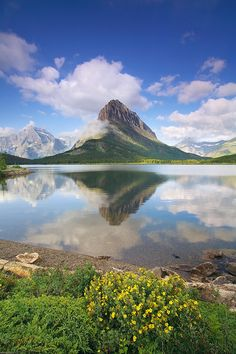 Swiftcurrent Lake Morning (Glacier National Park, Montana) by Henry Liu / 500px