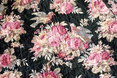 Vintage Home - Fabulous Floral Finches Welsh Quilt.