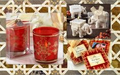 Asian Theme Favors A gorgeously presented Imperial Votive favor joins our very popular Lucky Elephant tealight holder and the richly colored Imperial Coasters to form a stunning triad with a touch of Far East flavor. Go ahead – see them all here http://timelesstreasure.theaspenshops.com/category/Asian.html