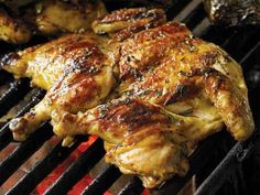 Portuguese Grilled Chicken under a Brick - Frango Chourasco Grilling Recipes, Cooking Recipes, Healthy Recipes, Dishes Recipes, Egg Recipes, Recipies, Barbacoa, Portugese Chicken, Gastronomia