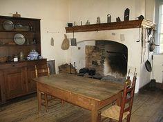 Colonial Kitchen. Veirling House, Old Salem, North Carolina USA. #kitchens