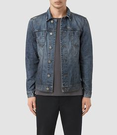 Hommes Hockett Denim Jacket (Indigo Blue) -