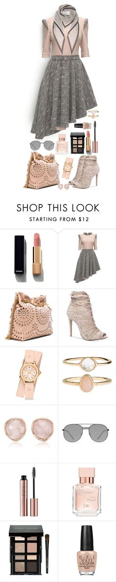 """Uneven Hems"" by celeste-menezes ❤ liked on Polyvore featuring Chanel, Lattori, STELLA McCARTNEY, Chinese Laundry, Michele, Accessorize, Monica Vinader, Elizabeth and James, Maison Francis Kurkdjian and Bobbi Brown Cosmetics"