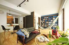 ハンモックで過ごすグラマラスな休日 -想いのまま中古+リノベーション-(マンション):リフォーム事例。自然素材の住まいやロハスな住宅リフォーム、マンションリフォームを提供