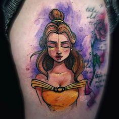 Behind The Scenes By worldofartists Cute Tattoos, Beautiful Tattoos, Body Art Tattoos, Girl Tattoos, Sleeve Tattoos, Tattoo Ink, Beauty And The Beast Tattoo, Disney Beauty And The Beast, Adventure Time Anime