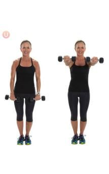 Try this dumbbell workout designed to target all of the muscles that will make your arms shapely and fit: biceps, triceps and shoulders! Shoulder Raises, Arm Challenge, Armpit Fat, Front Raises, Toned Arms, Fitness Design, Dumbbell Workout, Muscle Fitness, Fitness Plan