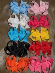 3 inch toddler boutique hairbow bundle lot set by HairbowsNMore, $35.00