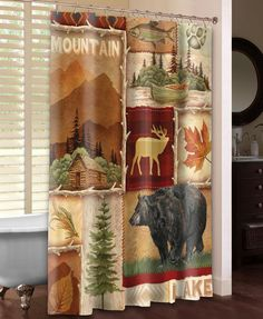 Lodge Collage I Shower Curtain – Laural Home