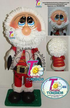 El Rincon Fofuchero: Fofuchos Papa Noel con moldes