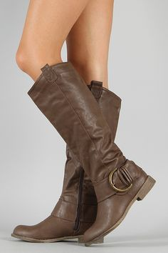Jency-2 Buckle Riding Knee High Boot $35.20