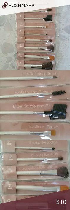 Ideas for makeup brushes set elf Makeup Brush Set, Makeup Vs No Makeup, No Eyeliner Makeup, Eye Brushes, Eyeshadow Brushes, Makeup Artist Tips, Makeup Eyeshadow Palette, Eyeliner Brush, Beauty