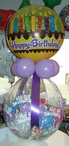 Verpackungs-Ballon mit #Happy #Birthday #Folien Ballon