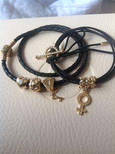 Pandora Bracelets Pandora, Pandora Jewelry, Pandora Charms, Pandora Gold, Bracelets For Men, Jewlery, Creations, Chanel, Beads