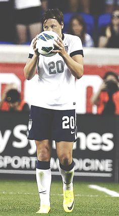 Abby Wambach broke Mia Hamm's international goal record of 159, Abby scored her 160th