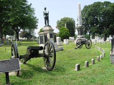 Civil War memorial in Mt. Olivet Cemetery in Hanover, Pa.