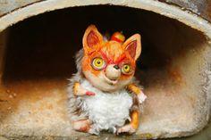 Лис, лисица, лисенок, fox, Olvik dolls, art doll, doll, bjd doll, ooak doll, ooak, clay doll, ceramik doll, olvik doll, fairy doll, doll cartoon, collection doll, handmade doll, an animal, a toy, a fairy-tale hero, a character, a fantastic creature, animal, artist doll, magic, magical, куклы Олвик, мастерская Олвик, игрушка, хенд мейд, глиняная, глина, мягкая игрушка, волшебный, зверь, создание, друг