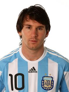 Lionel Messi of Argentina poses during the official FIFA World Cup 2010 portrait session on June 2010 in Pretoria, South Africa. Get premium, high resolution news photos at Getty Images Messi Argentina, Lionel Messi, Football Shirts, Football Players, Messi 2010, Uefa Champions, Fifa World Cup, David Beckham, Fc Barcelona