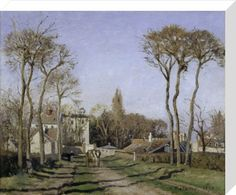 Entrance to the village of Voisins by Camille Pissarro - art print from King & McGaw