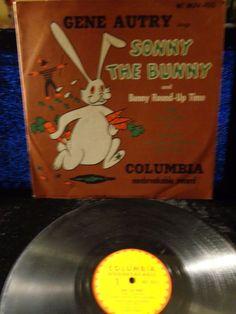 1951 Children's RARE Gene Autry ~~ Sonny the Bunny Columbia 78RPM #MJV-103 NM
