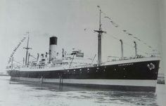 Agamemnon (3) on her way to breakers yard 1963. Note paying off pennant. Acknowledgment Georgie Marsh.