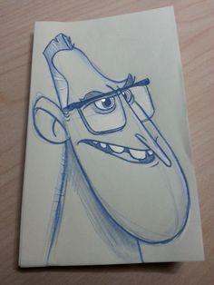 Dan Seddon: face doodles