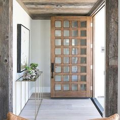 Exterior Design Trend: Light Wood DoorsBECKI OWENS There is an exterior trend we've been loving–light wood entry doors.Today we have a beautiful roundup of light wood doors for every aesthetic to help inspire your own design. Wood Entry Doors, The Doors, Windows And Doors, Patio Doors, Rustic Front Doors, White Oak Front Doors, Sliding Doors, Rustic Entry, Beautiful Front Doors
