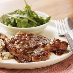 Pan-Seared Pork Chops with Red Currant Sauce Recipe | MyRecipes.com
