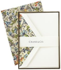 This Crane stationery is one of the varieties of half sheet boxed sets stocked by Tea and Crumples.