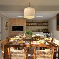 Área de Lazer na cidade: Sala de jantar  por Stefani Arquitetura