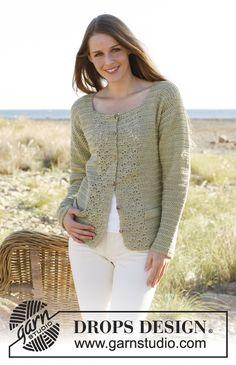 Crochet DROPS jacket in Muskat. Size: S - XXXL Free pattern by DROPS Design.