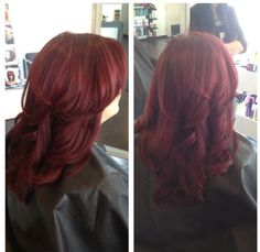 Red hair goldwell curls