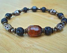 Men's Spiritual Healing Courage Patience Bracelet by tocijewelry