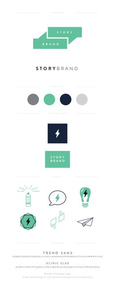 Story-Brand Branding - designed for Donald Miller - Lauren Ledbetter Design… Corporate Design, Brand Identity Design, Graphic Design Branding, Logo Branding, Typography Design, Branding Website, Corporate Identity, Web Design, Design Ideas