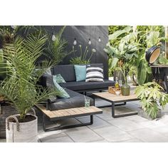 Terrace garden Lounge - Bringing coziness to your balcony or small terrace Outdoor Furniture Sets, Furniture, Outdoor Decor, Outdoor Sectional Sofa, Home, Outdoor Spaces, Natural Outdoor Furniture, Small Terrace, Outdoor Furniture