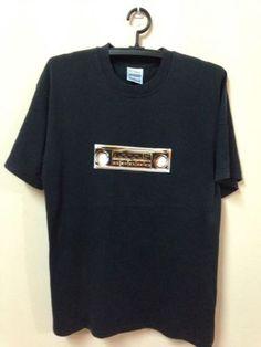 Oasis-Vintage-90s-T-Shirt-Rock-BritPop-Band-World-Tour-Concert-Original-Size-M