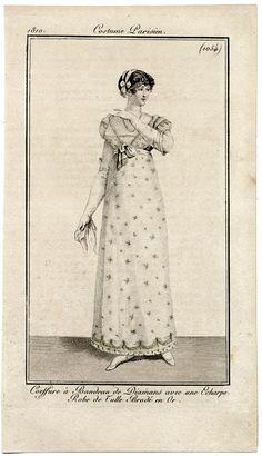 1810 Robe de tulle brodie #1054