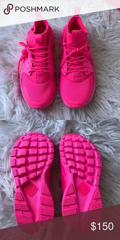 Nike Air Huarache Authentic hot pink Nike air Huarache. Never been worn. Got them in the mail & they were too small  these are sold out everywhere! Nike Shoes Athletic Shoes
