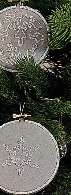 Décoration de Noël : des tambours brodés maison