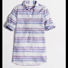 J Crew 100% Cotton Shirt-lightweight stripe tunic Super comfy. Great for summer! J. Crew Tops Tunics