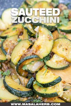 Garlic Onion Sauteed Zucchini Recipe - Healthy simple side dish to serve up with your favorite main course meal. You can use small or large zucchinis. www.MasalaHerb.com Large Zucchini Recipes, Sauteed Zucchini Recipes, Sauteed Vegetables, Healthy Vegetables, Vegetable Recipes, Vegetarian Recipes, Cooking Recipes, Veggies, Gluten Free Sides Dishes