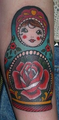 Claudia De Sabe - Russian doll tattoo