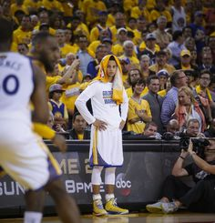 Golden State Warriors' Stephen Curry watches in the fourth period during Game 1 of The NBA Finals on Thursday, June 4, 2015 in Oakland, Calif. Photo: Scott Strazzante, The Chronicle