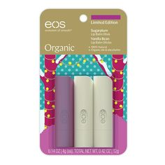 Packed with soothing shea butter and organic oil, eos Organic lip balm hydrates your lips and enhances your natural beauty. Organic Lip Balm, Organic Oil, Eos Lip Balm, Lip Balms, Magnetic Makeup Palette, Fixing Spray, Smooth Lips, Lip Care, Body Care