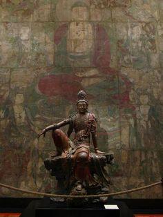 Guanyin of the Southern Sea Art Buddha, Mahayana Buddhism, Art Chinois, Art Asiatique, Art Japonais, Guanyin, Medieval Art, Religious Art, Chinese Art
