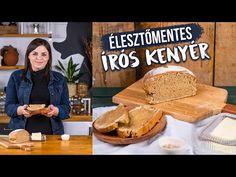 Ez egy igazi rusztikus házi, kelesztés nélküli kenyér! Klasszik kenyérformában is megsüthetitek. és friss vajjal és tengeri sóval a legjobb! Make It Yourself, Pizza, Street, Kitchen, Youtube, Cooking, Kitchens, Cuisine, Walkway
