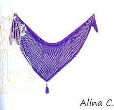 """lo spazio di lilla: Facciamo insieme...lo scialle crochet lavorato con """" Filobello """" di Adriafil / Let's make together...the crochet shawl made with """" Filobello """" by Adriafil"""